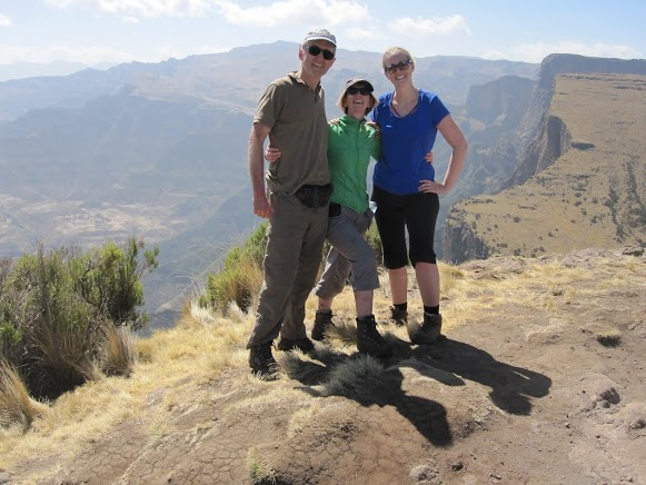 Julia Bishop and family in the Simien Mountains
