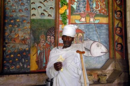 Priest at the Lake Tana monasteries