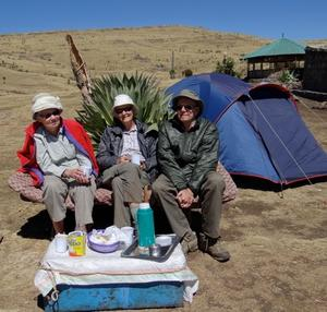 Valda, Ilze & Vitauts in the Simien Mountains